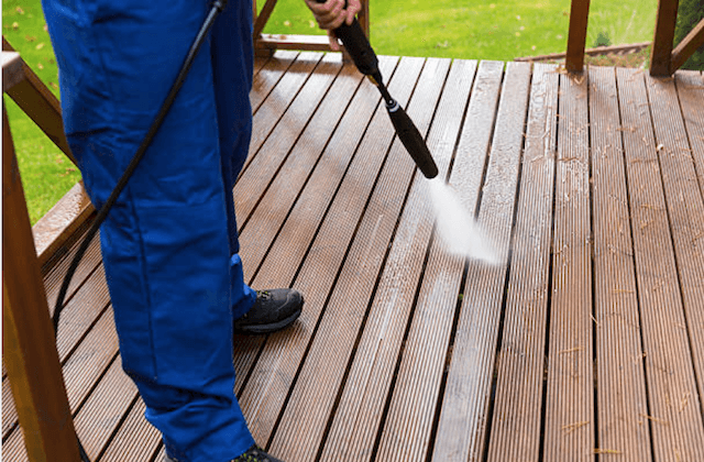 surprise deck cleaning